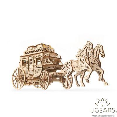 UGEARS Lovaskocsi  - mechanikus modell