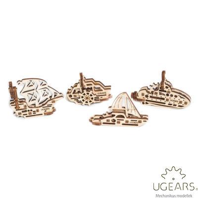 UGEARS mini stresszlevezető modellek - Hajók