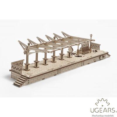 UGEARS Vasútállomás – mechanikus modell