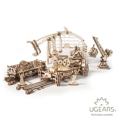 Ugears Vasúti Pályaudvar – mechanikus modell