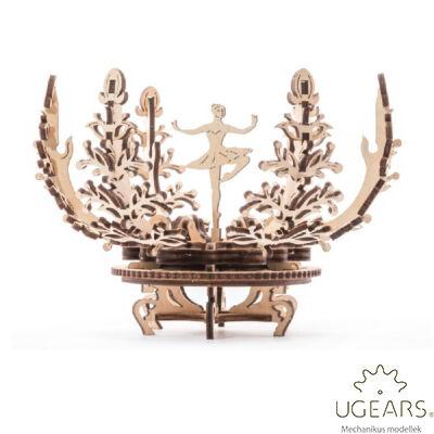 UGEARS Virágos tartódoboz - mechanikus modell
